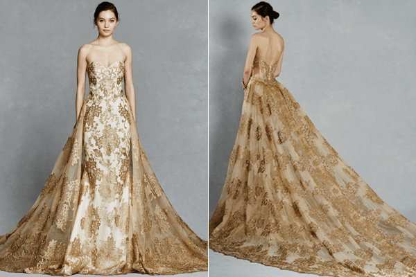 Gorgeous Wedding Gowns With Detachable Trains
