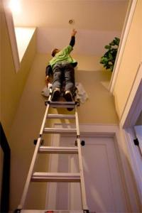 Changing Hard To Reach Light Bulbs     Fix It Friend hard to reach light bulb fixture change fix it friend handyman toronto