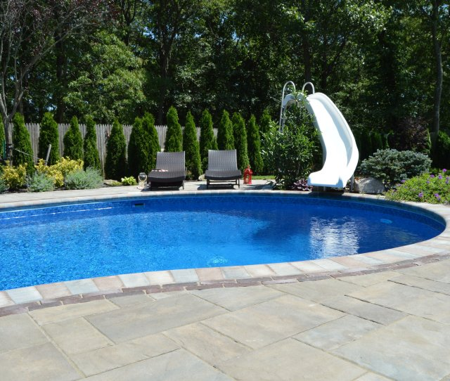 Swimming Pool With Slide In Smithtown