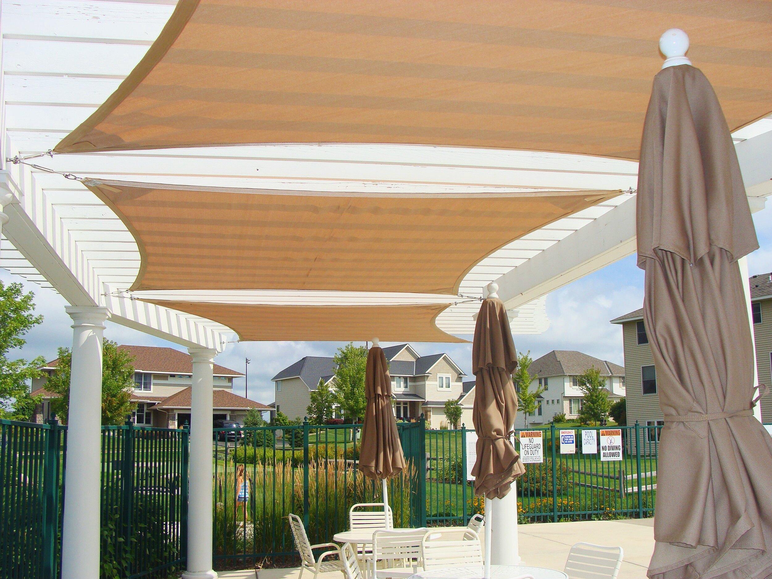 Awnings, Canopies, Shade Sail, Commercial Umbrella ... on Canvas Sun Shade Pergola id=46052
