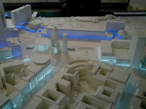 Site model of a project site in Berlin. I traveled to Berlin a few times during the phase of the project.
