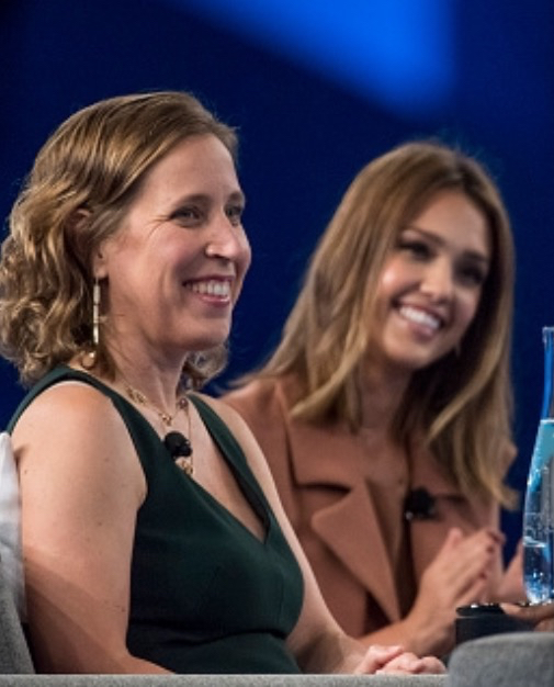 Jessica Alba and Susa Wojicki at Dreamforce