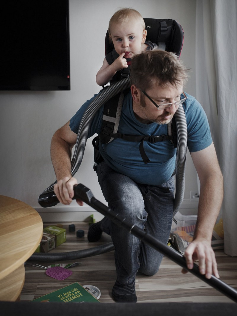 "Photo credit: Johan Bävman, in his series ""Swedish Dads"" and the country's 480 day parental leave policy"
