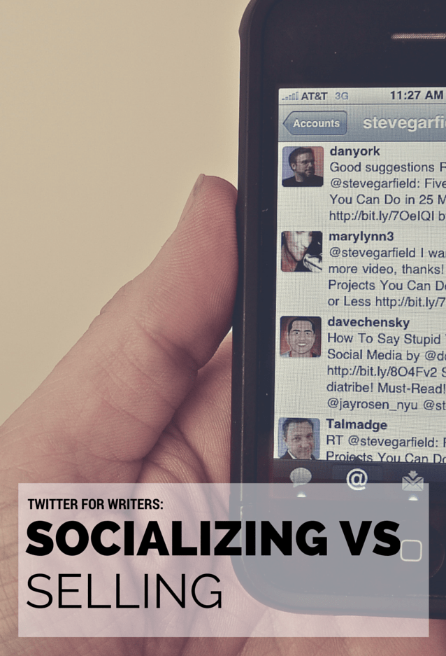 Twitter for Writers: Socializing VS Selling