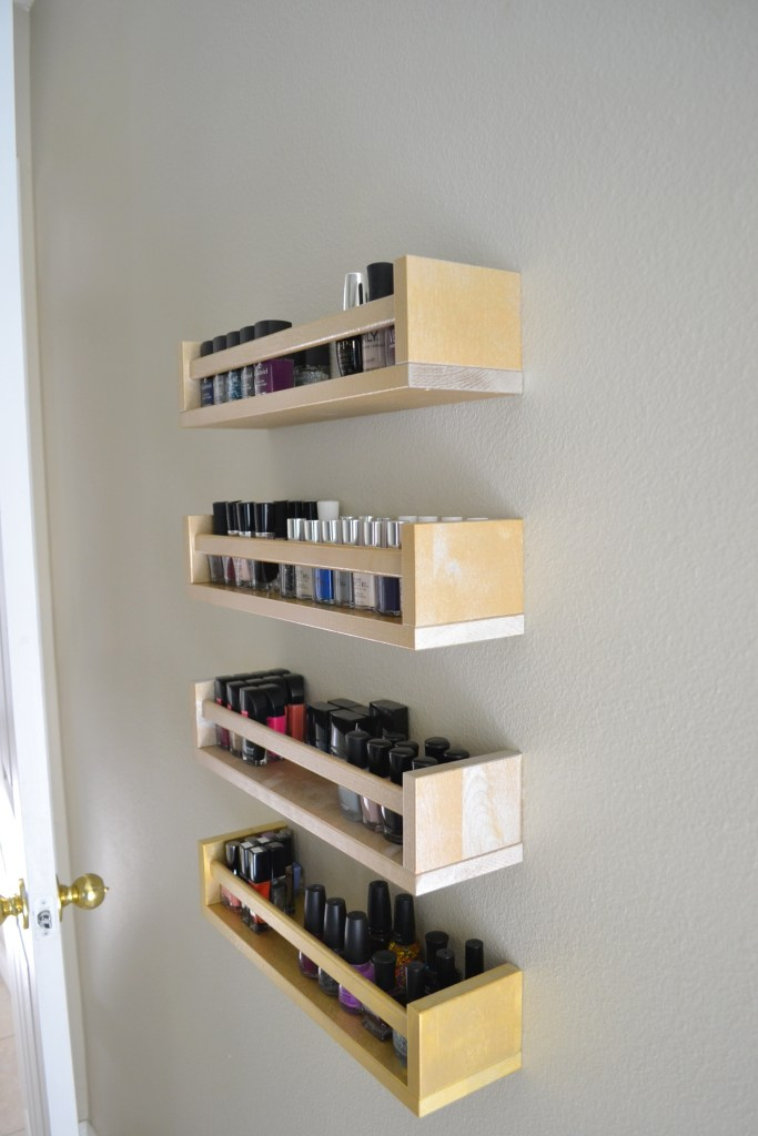 ikea nail polish rack hack
