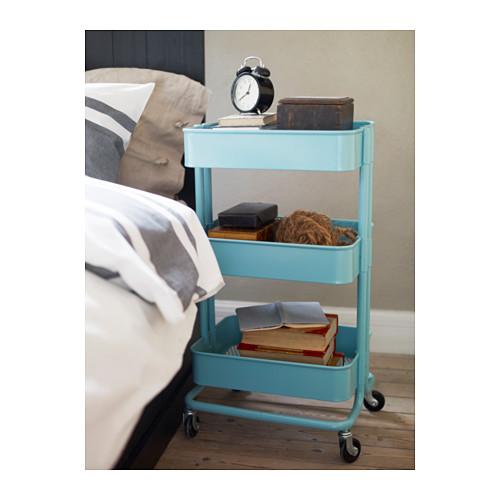 raskog utility cart turquoise