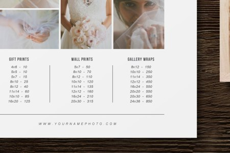 Price List Template   Photographer Pricing Guide   Wedding Price     Price List Template   Photographer Pricing Guide   Wedding Price List    Branding   Marketing Designs   m0180