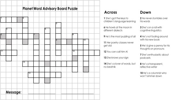 Five Obscure(ish) Words for Crossword Puzzlers — Planet Word