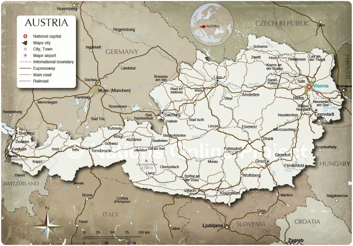 Mauthausen subcamps Austria Map Advertisement vienna