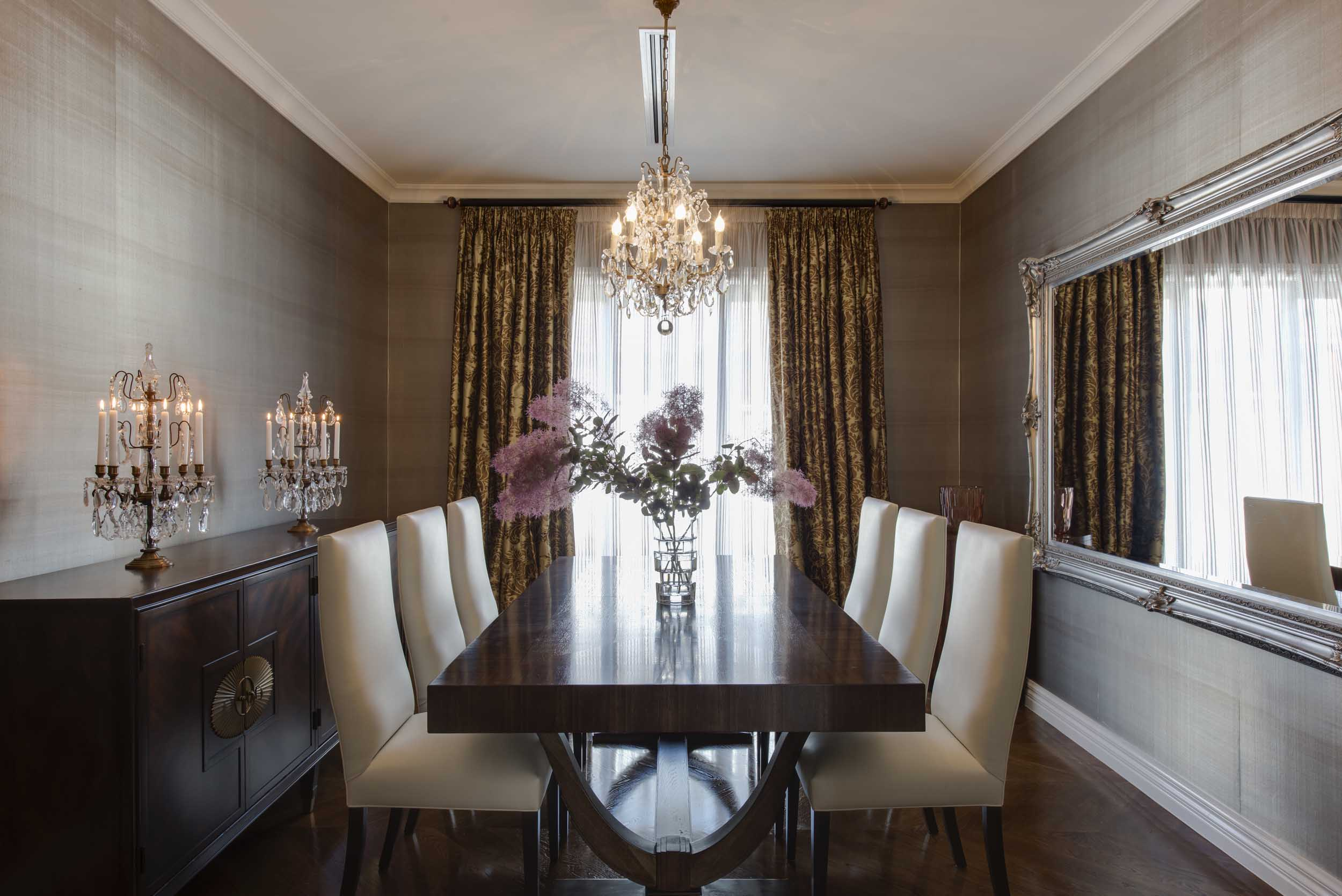 How to Give a Modern Luxe Feel to a Georgian Home   Peschek Interiors Dining Room