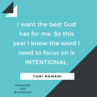I want the best God has for me. So this year I know the word I need to focus on is INTENTIONAL. (1)