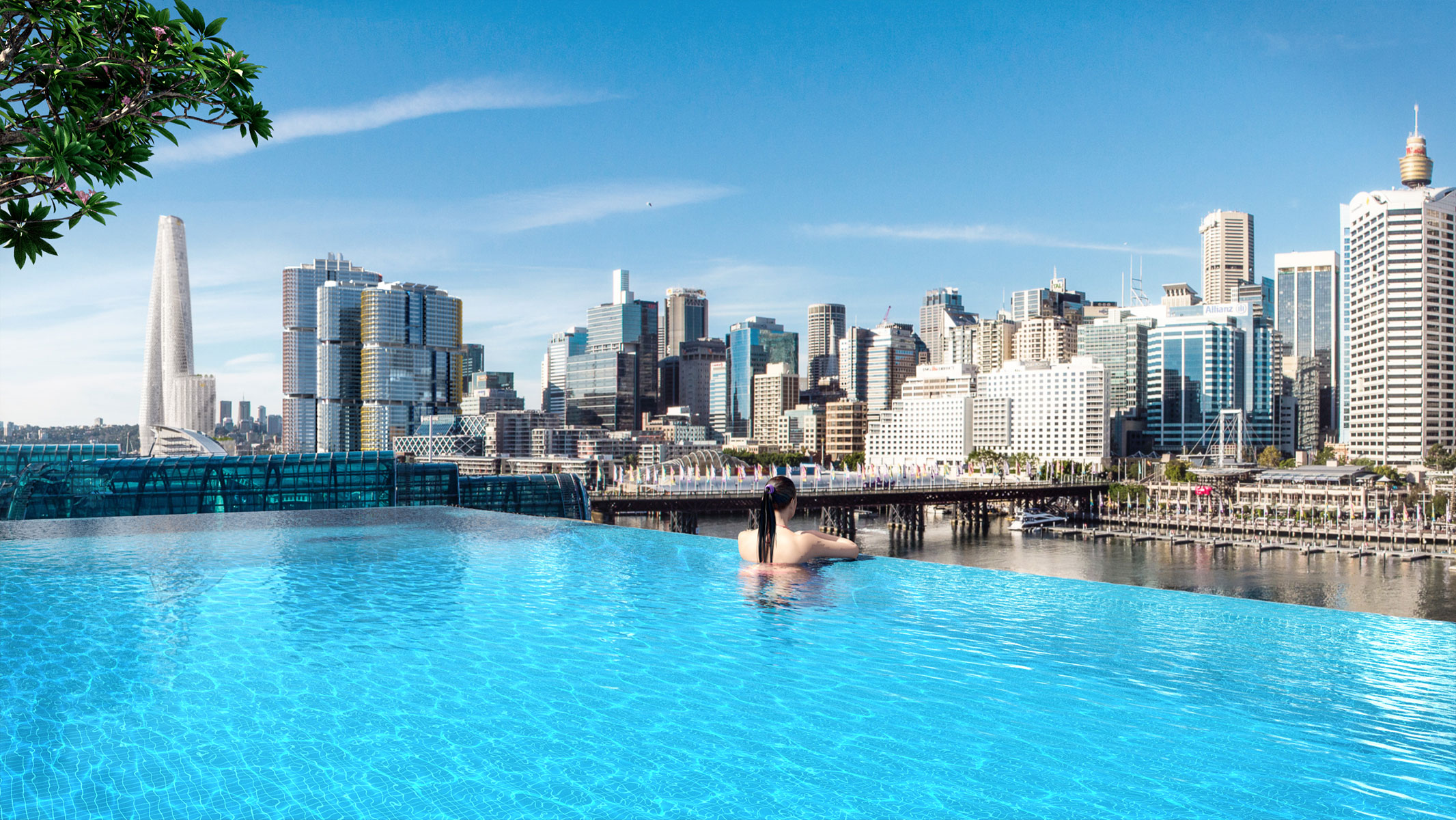 Sofitel Darling Harbour pool views