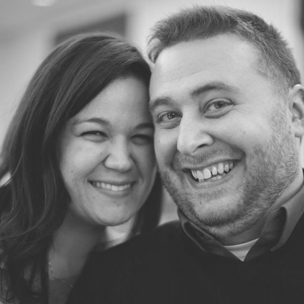 Alicia Sturdy and Andrew Sturdy #TBT Black and White Snapshot