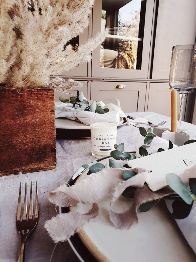 To add scent to your Christmas table snap some of these beautiful mini votive candles from Plum & Ashby