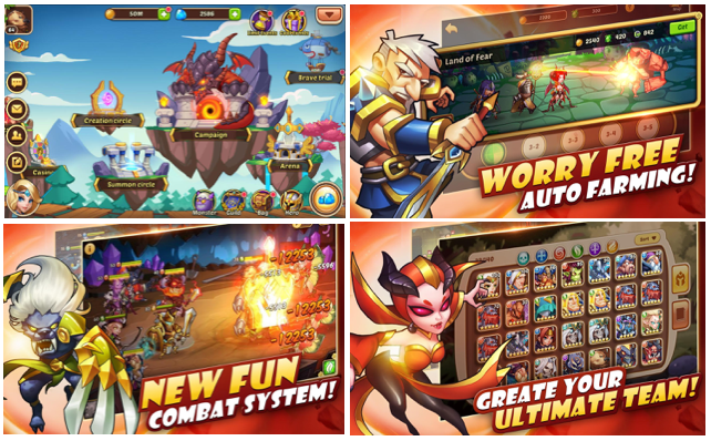 Idle Heroes offers simplified automated gameplay bundeled with elaborate RPG mechanics