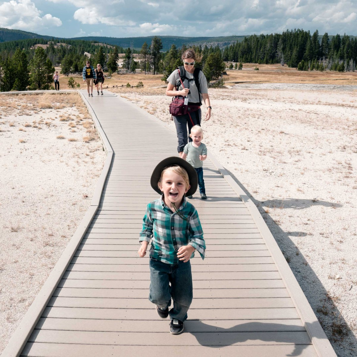 Exploring Upper Geyser Basin.