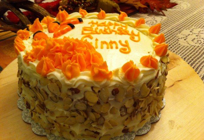 Carrot Cake Custom Decoration Lady Rens
