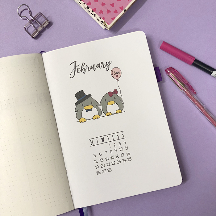 Plan With Me My February Set Up In My Bullet Journal
