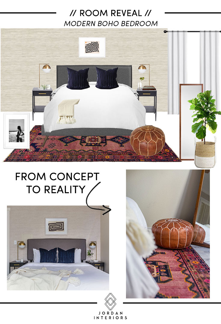 ROOM REVEAL // MODERN BOHO BEDROOM — JORDAN INTERIORS on Boho Bedroom Modern  id=69715