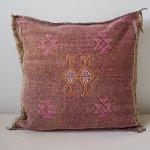 Cactus Silk Pillow Dark Pink 1 Aventyr