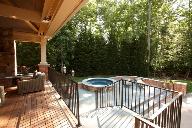covered outdoor kitchen, dining and living room — marcia fryer