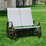 Outsunny 2 Seat Patio Glider Bench Brown Beige Mh Star