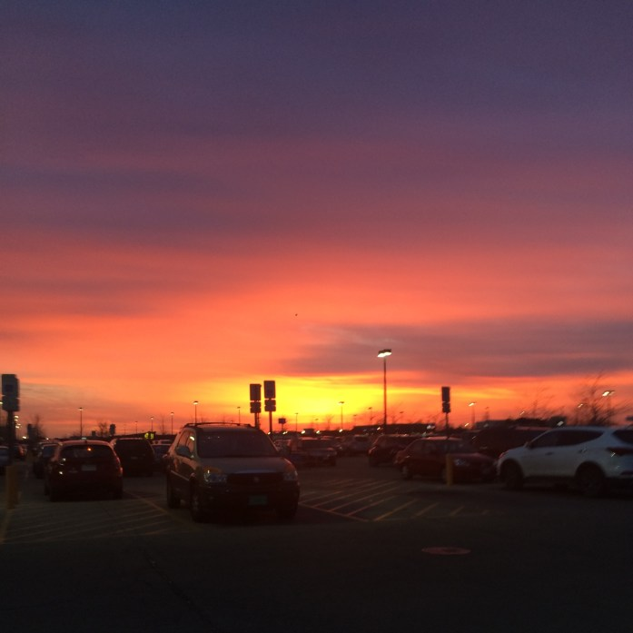 The one where I went to Walmart and the sky looked like this.