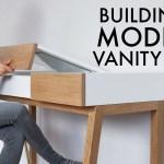 Modern Vanity Desk 3x3 Custom