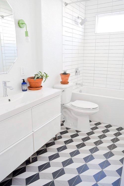 cement vs ceramic tile why we chose ceramic for our bathroom tiny rehab