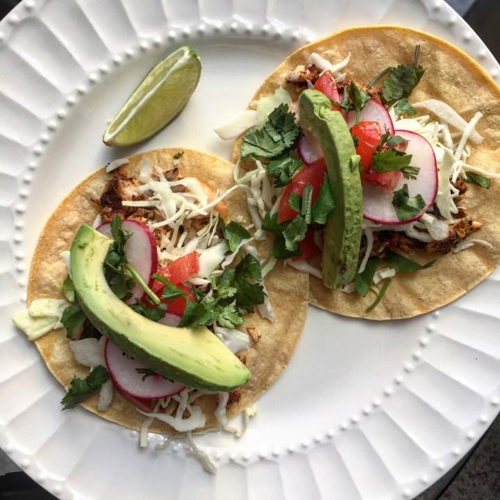 fish tacos, a la Cravings