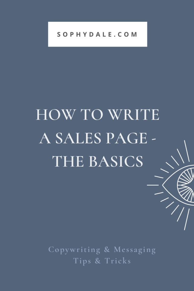 How to write a sales page - the basics — Nicheing & copywriting