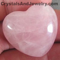 Rose Quartz Heart from my CrystalsAndJewelry.com site