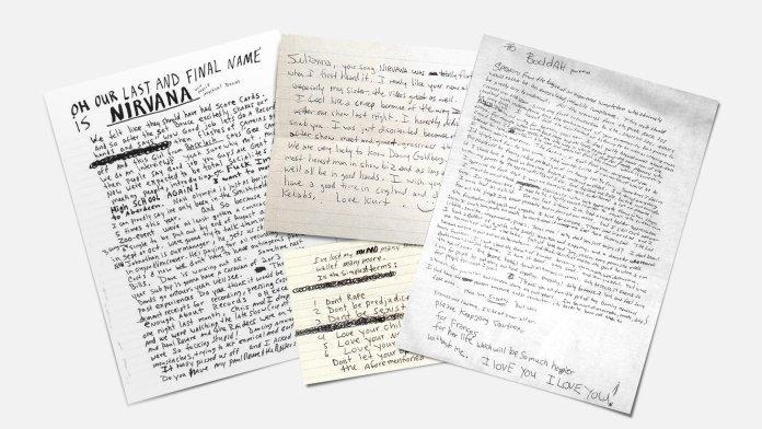 Kurt Cobain notes