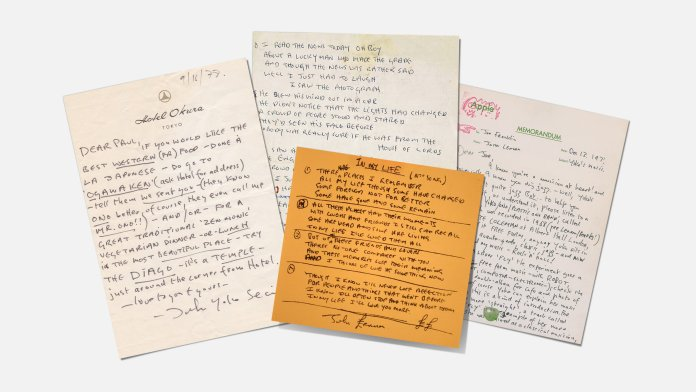 John Lennon notes