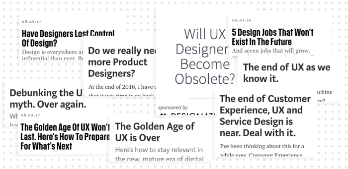 Sure, UX is dead. Now let's get back to work.