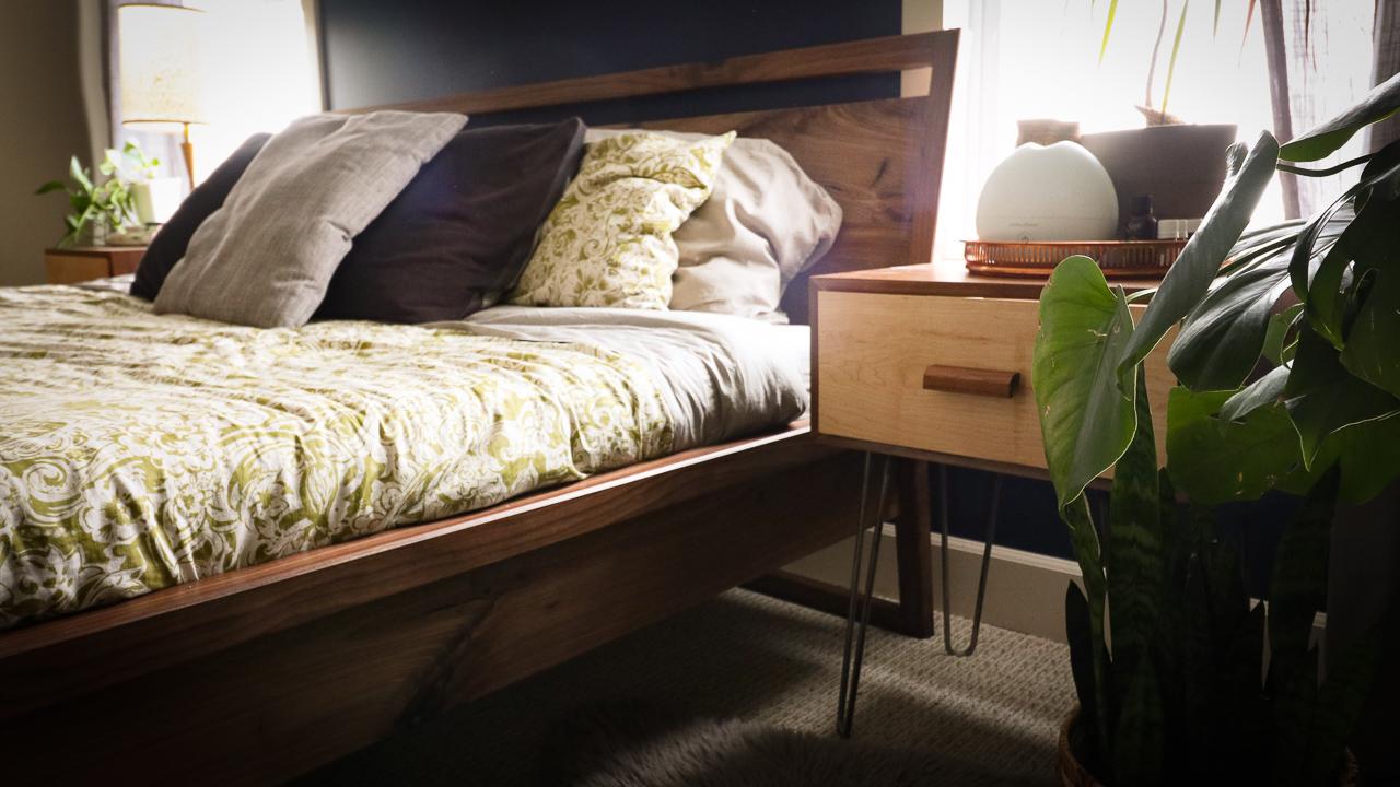 Diy Mid Century Modern Inspired Sleigh Bed Haven Mattress