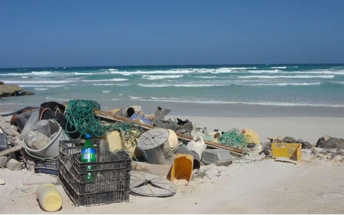 Objets flottants ou microparticules, ces déchets en plastique se déposent sur les plages, se dispersent en mer et se retrouvent sur les fonds marins. © J. VEIGA