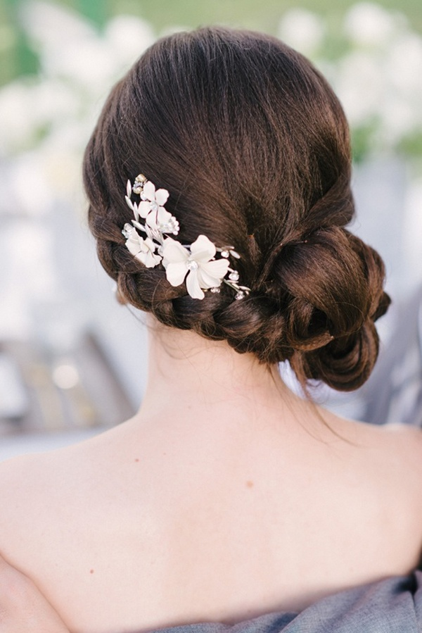 wedding hair wedding bun wedding updo wedding chignon wedding braided bun