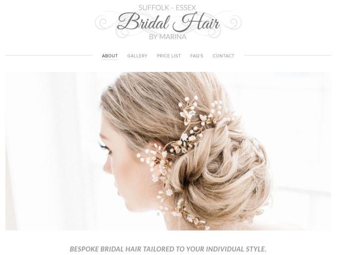 price list — essex & suffolk bridal hair by marina