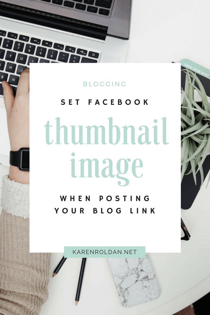How To Set Facebook Thumbnail Image When Posting Your Link 1