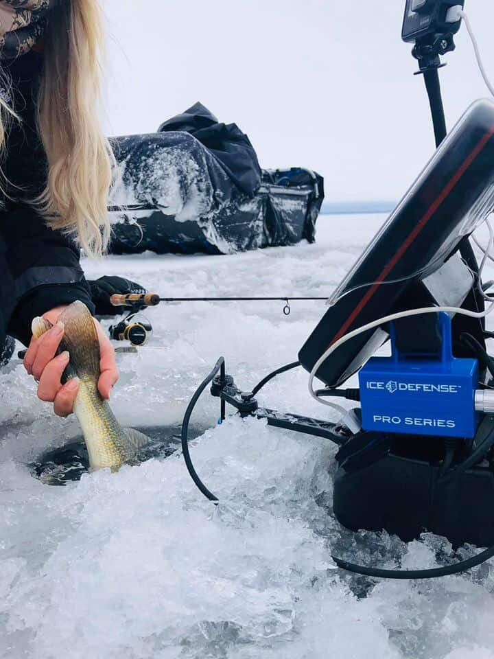 Eliminating hole and line freeze up is a gift any female angler can appreciate!