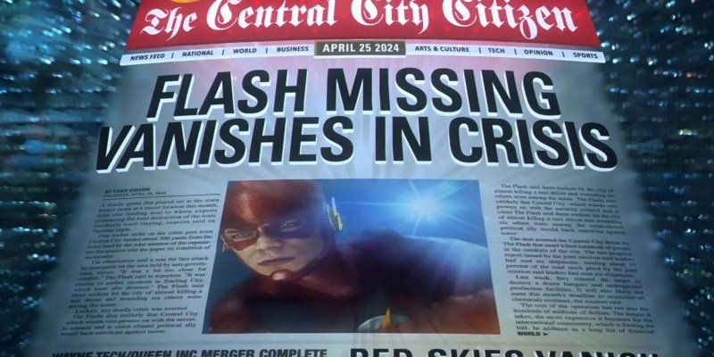 Image result for flash vanishes in crisis article