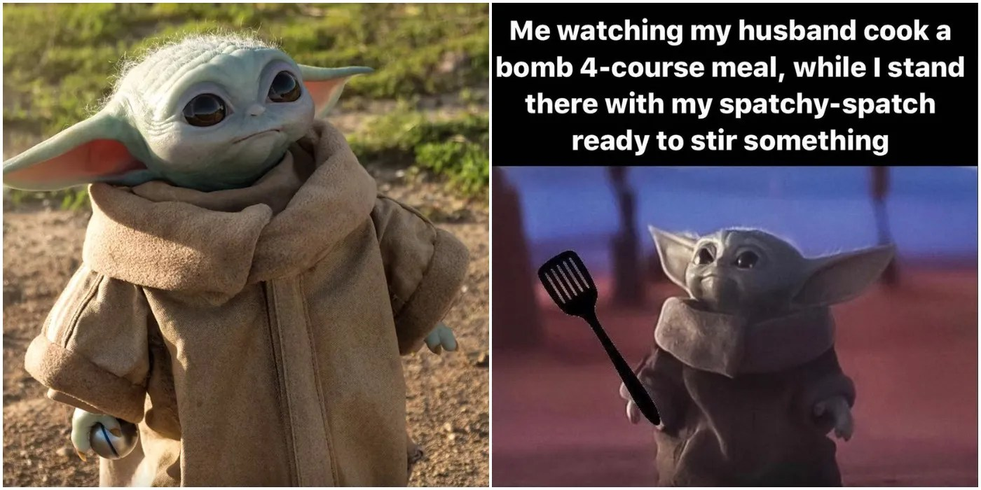 "15 Funniest Baby Yoda ""Looking Up"" Memes 