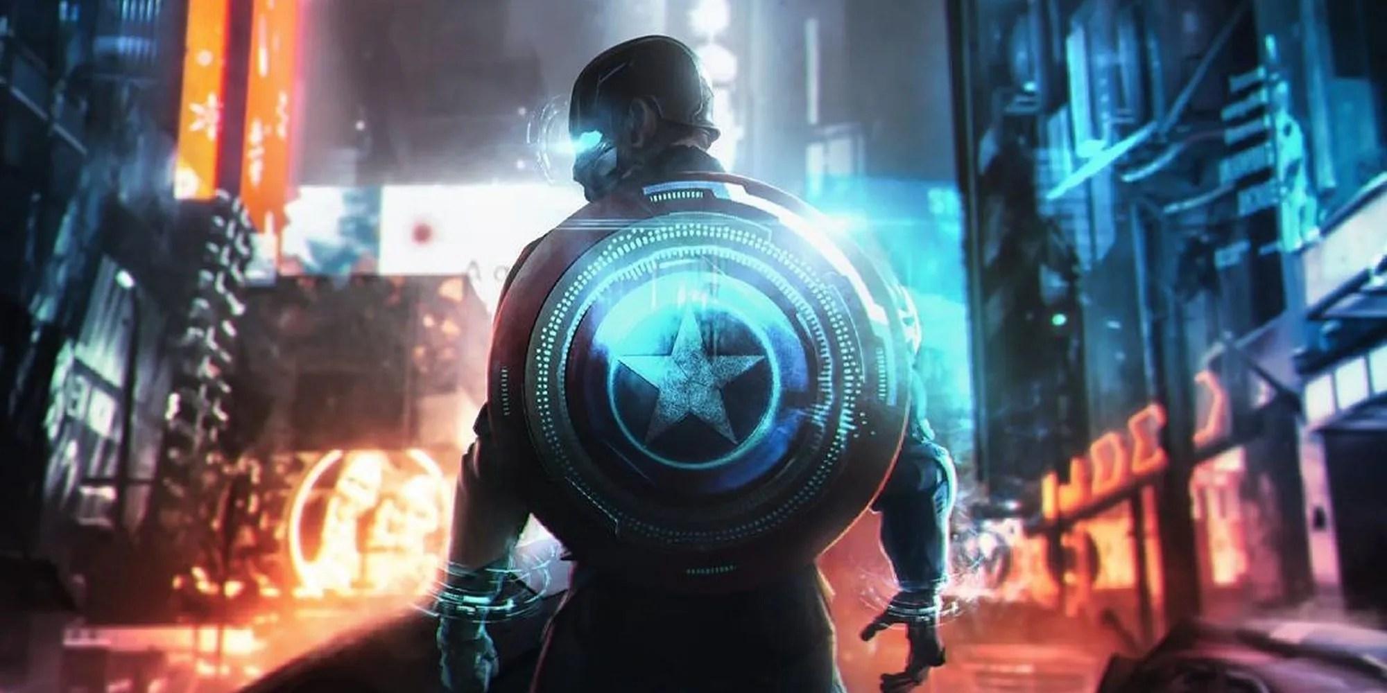Fan Art Captain America Cyberpunk 2077 is the video game we deserve