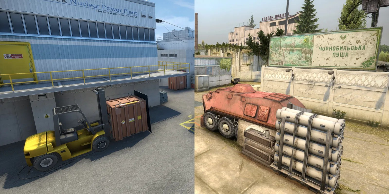 CS: GO Modder shows how maps would look in Nuke style