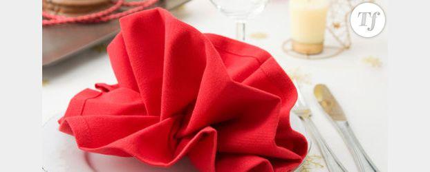 pliage de serviettes modeles pour le reveillon du nouvel an videos