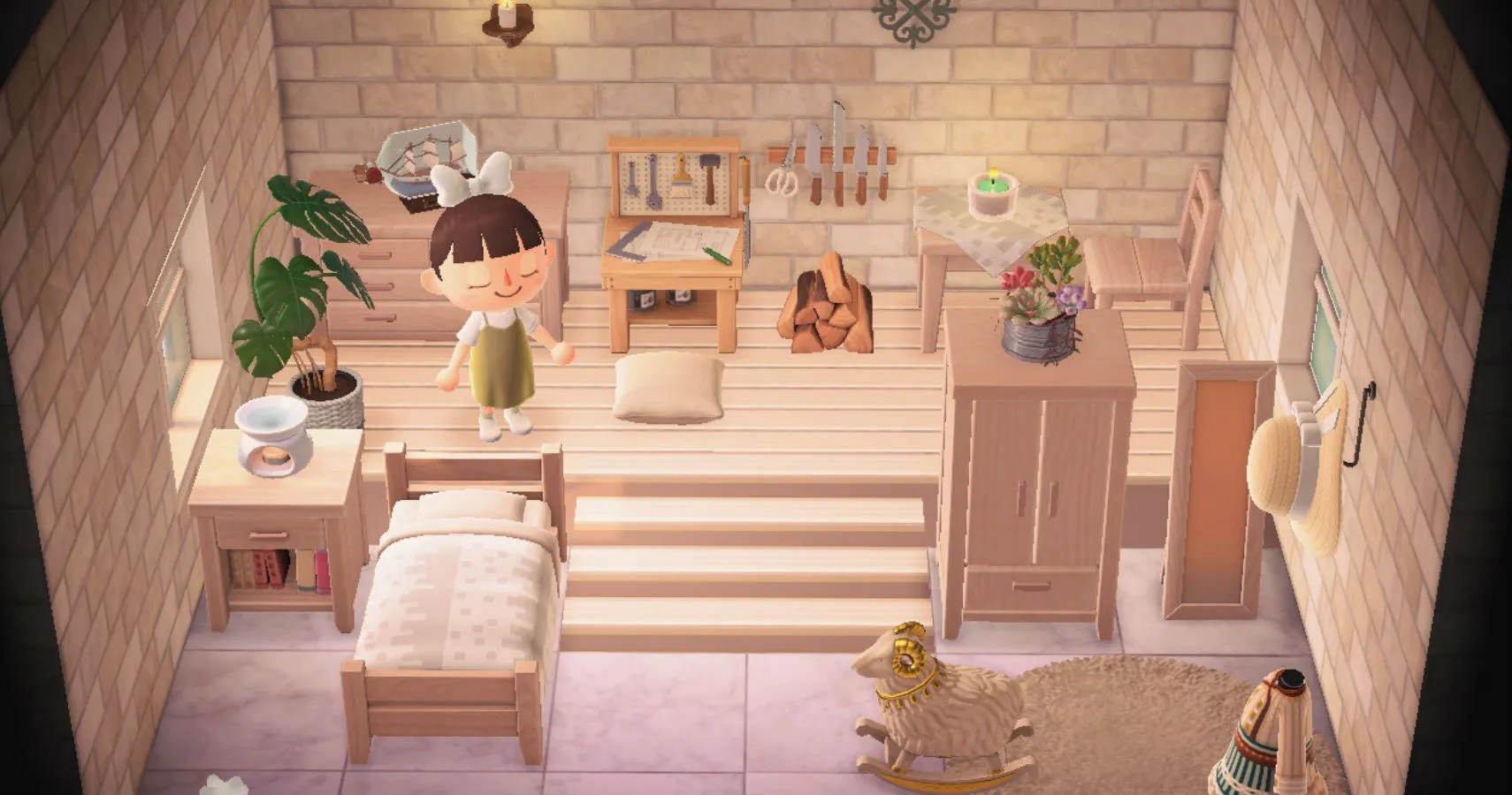Animal Crossing: New Horizons - How to Build a Loft in ... on Animal Crossing Room Ideas New Horizons  id=89777