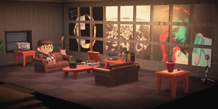 Living Room Animal Crossing New Horizons - RUNYAM on Animal Crossing New Horizons Living Room Ideas  id=34784