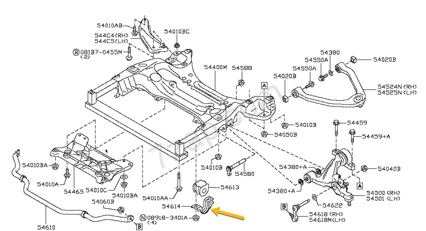350z Nissan Oem Clamp Stabilizer Rh