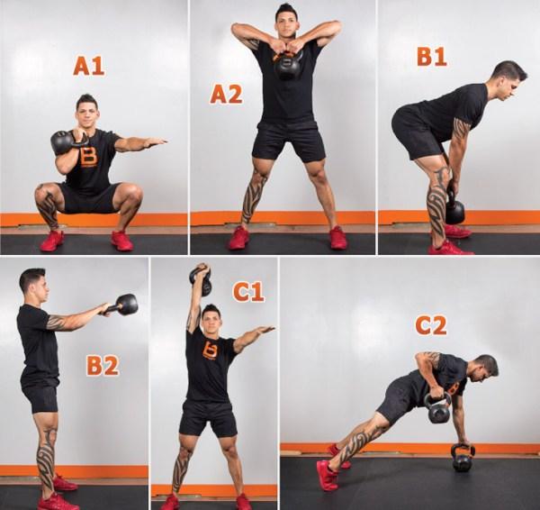 Тренировки с гирями для бойцов